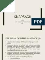 Algoritma Knapsack