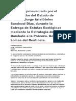 Entrega de Estufas Ecológicas Mediante La Estrategia de Combate a La Pobreza