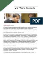 Economia k y La Teoria Monetaria Moderna