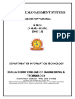 Dbms Lab Manual_ii b.tech It Semii (2017-18)