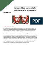 Libre Comercio El Dilema Keynesiano y La Respuesta Marxista