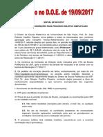 061 - Abertura de Insc Proc Seletivo Pmi Lavra de Minas