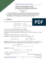 Tema 1. Matrices, Determinantes y Sistemas Lineales