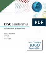 Disc Leadership Sample Report