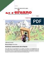 Columna de Manuel Burga en El Peruano