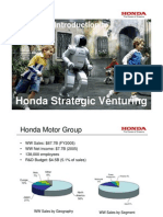 Honda Strategic Venturing Introduction
