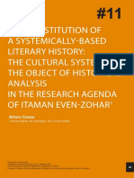 Arturo Casas. the Constitution of a Systemically Based Literary History. the Cultural System...
