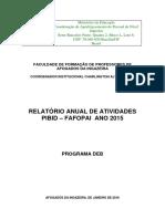 Relatório-Anual 2015 - GLAUBER