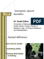 Neurogenic Speech Disorders