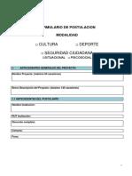 Formulario de Postulacion Proyectos 6% FNDR