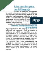 10 ejercicios sencillos para problemas del lenguaje.doc