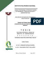 Gestión Del Talento Humano Por Competencias Para Una Empresa de Las Artes Gráficas.ipn.Tesis
