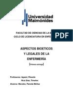 Aspectos Bioeticos y Legales