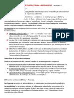 control y evaluación financiera Resumen