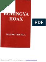 Rohingya Hoax by Maung Tha Hla