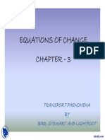 Equations of Change Transport Phenomenon Lecture Slides