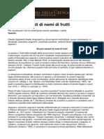 Accademia Della Crusca - Alcune Varianti Di Nomi Di Frutti - 2016-03-09
