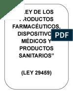 Ley de Los Productos Farmacéuticos