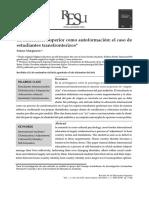 La Educación Superior Como Autoformación El Caso d 2014 Revista de La Educa