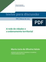 A Rede de Cidades e o Ordenamento Territorial_P