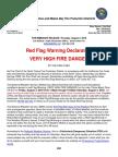 Red Flag Warning Declaration