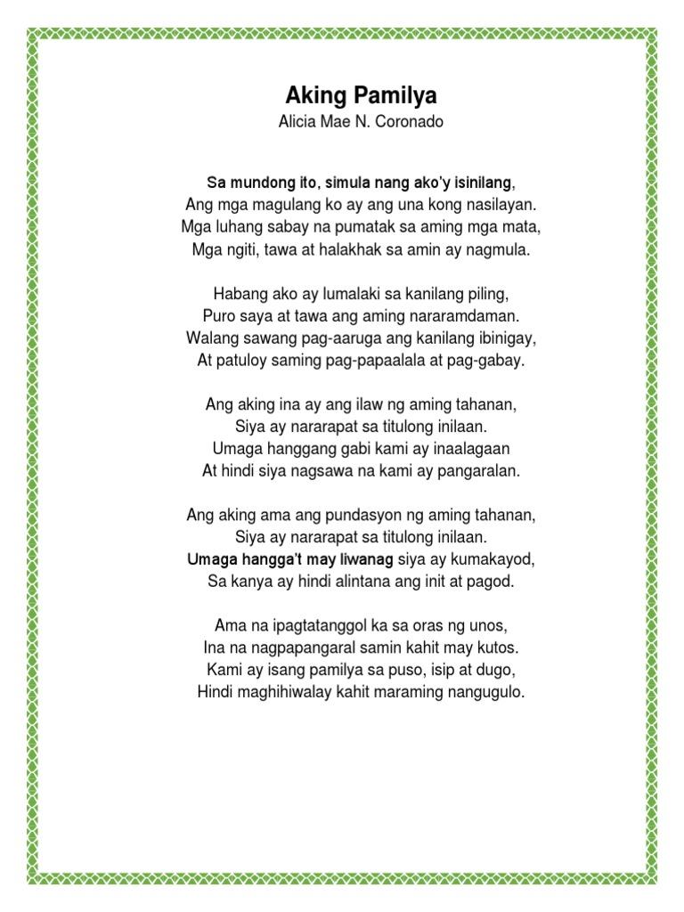 Energian Saasto—These Tula Ng Ama At Ina