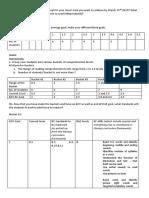 Classroom Analysis Format