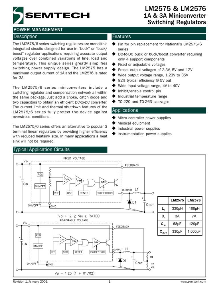 Datasheetpdf Capacitor Power Supply 3a Switching Regulator