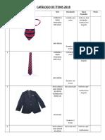 Catálogo de Uniformes 2018 II