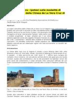 Articolo - Geometria Sacra-Ipotesi sulla modalità di progettazione della Chiesa de La Vera Cruz di Segovia
