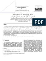 Agility Index in Supply Chain