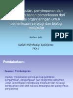 Pengambilan Dan Penanganan Spesimen Klinik Untuk Pemeriksaan Serologi Dan Biologi Molekular (FKUI)