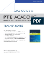 New-Official Guide PTEA Teacher Notes