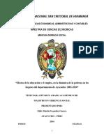 Tésis Dinámica de la Pobreza, Empleo y Educación en Ayacucho Perú