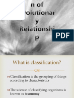 Classification of Evolutionary Relationship