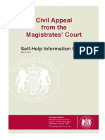 Magistrates Court Appeal Self Help Guide 2014