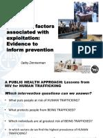 Zimmerman_Determinants for Prevention_Human Trafficking for Dissemination