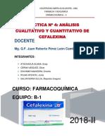 Farmacoquimica II Cefalexina
