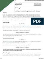Calculating Yield & Tensile Strength - Portland Bolt