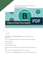Thiamine and Thyroid