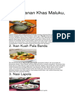 10 Makanan Khas Maluku