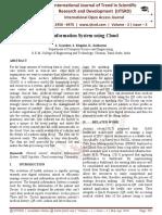 Hospital Information System using Cloud