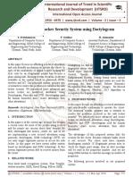 Advance Safe Locker Security System using Dactylogram