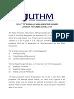 Specialisation Option Form