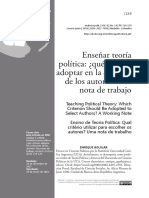 Aguilar Enrique - Enseñar teoría política, Analecta, PDF