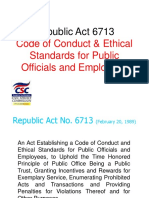 Code of Ethical Standards for Public Officials and Employees