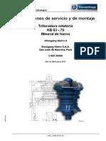 INSTRUCCIONES DE MONTAJE Y SERVICIO TRITURADORA KB 63-75