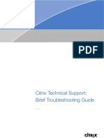 Citrix basic troubleshooting docshare. Tips.