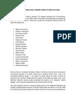 Reseña Historica Del Caserío Santa Clara de Ojeal . DISTRITO DE PUNCHANA - PERÚ