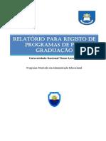 Relatório Administração Educacional